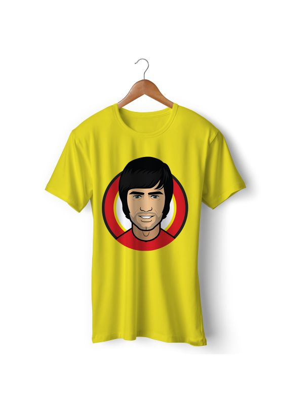 Football Player Icon T-Shirt - George Best (Manchester United)